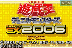 Title screen of the game Yu-Gi-Oh! Duel Monsters Expert 2006 on Nintendo GameBoy Advance