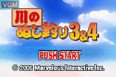 Title screen of the game Kawa no Nushi Tsuri 3 & 4 on Nintendo GameBoy Advance