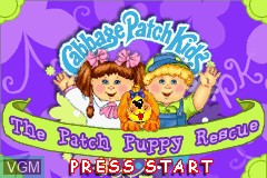 Title screen of the game Cabbage Patch Kids - The Patch Puppy Rescue on Nintendo GameBoy Advance