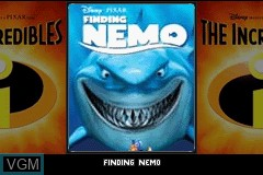 Title screen of the game 2 Games in 1 - Finding Nemo + The Incredibles on Nintendo GameBoy Advance