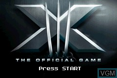 Title screen of the game X-Men - The Official Game on Nintendo GameBoy Advance