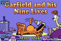 Title screen of the game Garfield and His Nine Lives on Nintendo GameBoy Advance