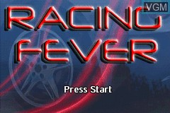 Title screen of the game Racing Fever on Nintendo GameBoy Advance