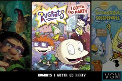 Title screen of the game 3 Games in 1 - Rugrats - I Gotta Go Party + SpongeBob SquarePants - SuperSponge + Tak and the Power of Juju on Nintendo GameBoy Advance