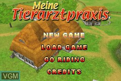 Title screen of the game Meine Tierarztpraxis on Nintendo GameBoy Advance