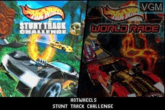 Title screen of the game 2 Game Pack! - Hot Wheels - Stunt Track Challenge + Hot Wheels - World Race on Nintendo GameBoy Advance