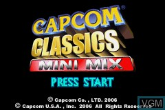 Title screen of the game Capcom Classics Mini Mix on Nintendo GameBoy Advance