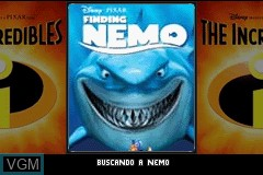 Title screen of the game 2 Games in 1 - Buscando a Nemo + Los Increibles on Nintendo GameBoy Advance