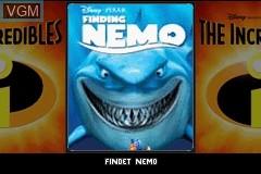 Title screen of the game 2 Games in 1 - Findet Nemo + Die Unglaublichen on Nintendo GameBoy Advance