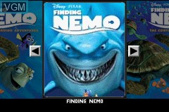 Title screen of the game 2 Games in 1 - Finding Nemo + Finding Nemo - The Continuing Adventures on Nintendo GameBoy Advance