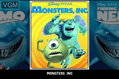 Title screen of the game 2 Games in 1 - Monsters, Inc. + Finding Nemo on Nintendo GameBoy Advance
