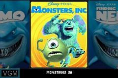 Title screen of the game 2 Games in 1 - Monstruos, S.A. + Buscando a Nemo on Nintendo GameBoy Advance