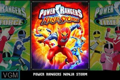 Title screen of the game 2 Games in 1 - Power Rangers - Ninja Storm + Power Rangers - La Force du Temps on Nintendo GameBoy Advance