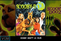 Title screen of the game 2 Games in 1 - Scooby-Doo + Scooby-Doo 2 - Les Monstres Se Dechainent on Nintendo GameBoy Advance