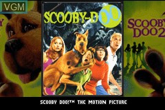 Title screen of the game 2 Games in 1 - Scooby-Doo + Scooby-Doo 2 - Monsters Unleashed on Nintendo GameBoy Advance