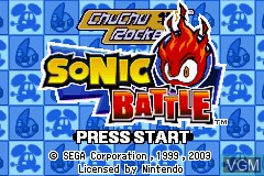 Title screen of the game 2 Games in 1 - Sonic Battle + ChuChu Rocket! on Nintendo GameBoy Advance