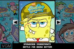 Title screen of the game 2 Games in 1 - SpongeBob SquarePants - Battle for Bikini Bottom + The Fairly OddParents! - Breakin' da Rules on Nintendo GameBoy Advance