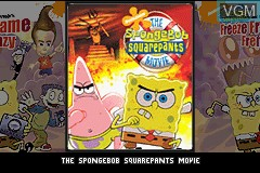 Title screen of the game 2 Games in 1 - The SpongeBob SquarePants Movie + SpongeBob SquarePants and Friends in Freeze Frame Frenzy on Nintendo GameBoy Advance