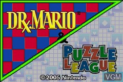 Title screen of the game 2 Games in One! - Dr. Mario + Puzzle League on Nintendo GameBoy Advance