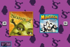 Title screen of the game 2-in-1 Fun Pack - Shrek 2 + Madagascar - Operation Penguin on Nintendo GameBoy Advance