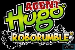 Title screen of the game Agent Hugo - Roborumble on Nintendo GameBoy Advance