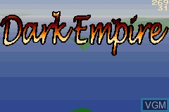 Title screen of the game Dark Empire on Nintendo GameBoy Advance