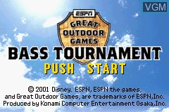 Title screen of the game ESPN Great Outdoor Games - Bass Tournament on Nintendo GameBoy Advance
