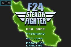Title screen of the game F24 Stealth Fighter on Nintendo GameBoy Advance