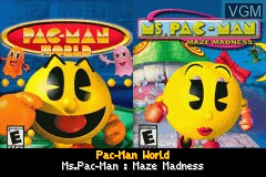 Title screen of the game Pac-Man World & Ms. Pac-Man - Maze Madness on Nintendo GameBoy Advance