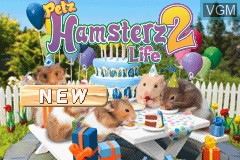 Title screen of the game Petz - Hamsterz Life 2 on Nintendo GameBoy Advance