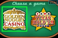 Title screen of the game Double Game! - Golden Nugget Casino & Texas Hold 'em Poker on Nintendo GameBoy Advance