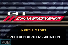 Title screen of the game GT Championship on Nintendo GameBoy Advance