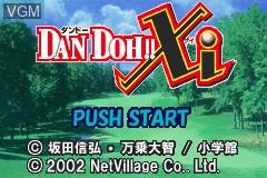 Title screen of the game Dan Doh!! Xi on Nintendo GameBoy Advance