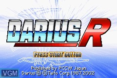 Title screen of the game Darius R on Nintendo GameBoy Advance