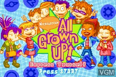 Title screen of the game All Grown Up! - Express Yourself on Nintendo GameBoy Advance