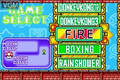 Menu screen of the game Game & Watch Gallery Advance on Nintendo GameBoy Advance