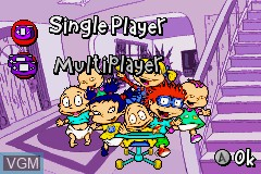 Menu screen of the game Rugrats - I Gotta Go Party on Nintendo GameBoy Advance