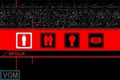 Menu screen of the game Ballistic - Ecks vs. Sever on Nintendo GameBoy Advance