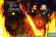 Menu screen of the game Reign of Fire on Nintendo GameBoy Advance