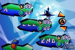 Menu screen of the game Santa Claus Jr. Advance on Nintendo GameBoy Advance
