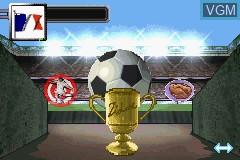 Menu screen of the game Zidane Football Generation 2002 on Nintendo GameBoy Advance