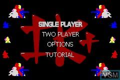 Menu screen of the game International Karate Plus on Nintendo GameBoy Advance