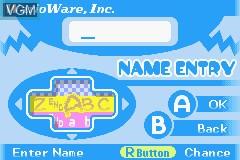 Menu screen of the game WarioWare, Inc. - Mega Microgame$! on Nintendo GameBoy Advance
