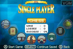 Menu screen of the game Ultimate Brain Games on Nintendo GameBoy Advance