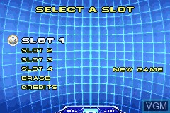 Menu screen of the game X2 - Wolverine's Revenge on Nintendo GameBoy Advance