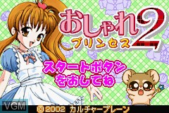 Menu screen of the game Oshare Princess 2 and Doubutsu Kyaranabi on Nintendo GameBoy Advance