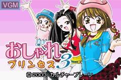 Menu screen of the game Oshare Princess 3 on Nintendo GameBoy Advance