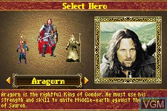 lord of the rings return of the king gameboy advance