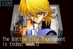 Menu screen of the game Yu-Gi-Oh! - The Sacred Cards on Nintendo GameBoy Advance