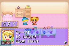 Menu screen of the game Wagamama Fairy Mirumo de Pon! - 8 Nin no Toki no Yousei on Nintendo GameBoy Advance